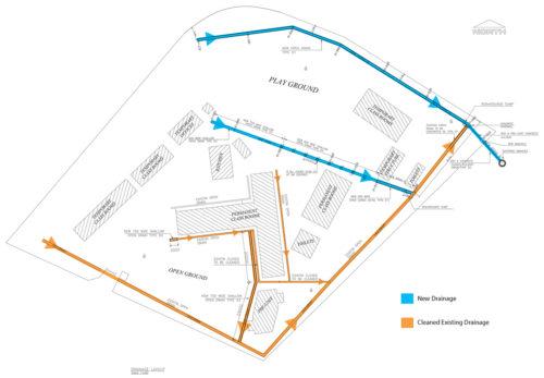 Drainage Plan Drawing